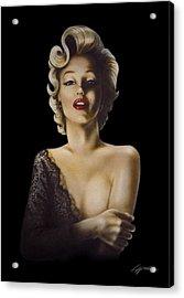 Black Lace Acrylic Print