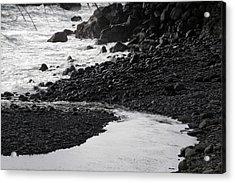 Black Lava Beach, Maui Acrylic Print