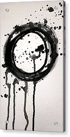 Black Licorice Lollipop Abstract Acrylic Print by LKB Art and Photography
