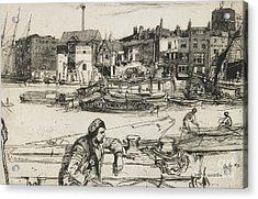 Black Lion Wharf Acrylic Print by James Abbott McNeill Whistler