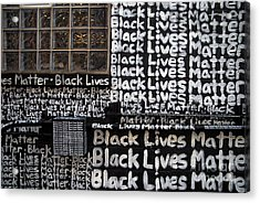 Black Lives Matter Wall Part 1 Of 9 Acrylic Print