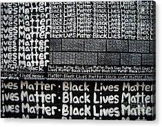 Black Lives Matter Wall Part 2 Of 9 Acrylic Print