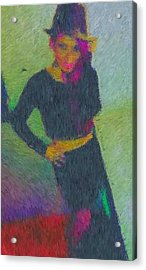 Black Magic Woman Acrylic Print by Mike La Muerte Giuliani