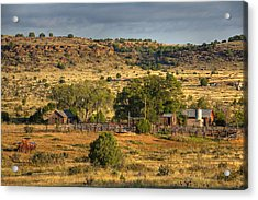 Black Mesa Ranch Acrylic Print by Charles Warren