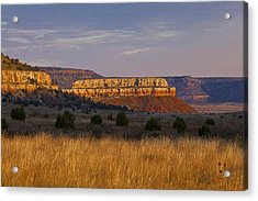 Black Mesa Sunrise Acrylic Print by Charles Warren