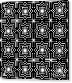 Black Night Lights Acrylic Print