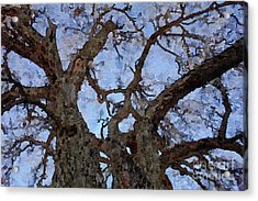 Acrylic Print featuring the painting Black Oaks by Mark Greenberg