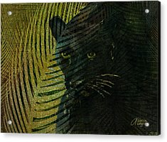 Black Panther Acrylic Print by Arline Wagner