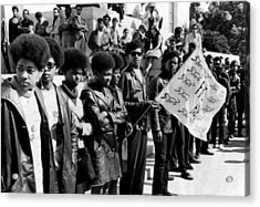 Black Panther Party Members Show Acrylic Print by Everett