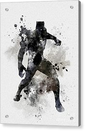 Black Panther Acrylic Print by Rebecca Jenkins