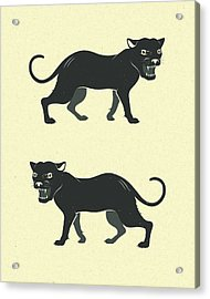 Black Panthers Acrylic Print by Jazzberry Blue