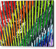 Black Rainbow Acrylic Print