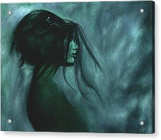 Acrylic Print featuring the painting Black Raven by Ragen Mendenhall
