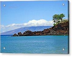 Black Rock Beach And Lanai Acrylic Print