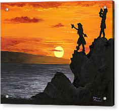 Acrylic Print featuring the painting Black Rock Maui by Darice Machel McGuire