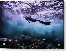 Black Rock Acrylic Print by One ocean One breath