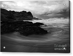 Black Rock  Swirl Acrylic Print by Mike  Dawson
