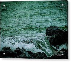 Black Rocks Seascape Acrylic Print