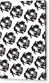 Black Rose Pattern Acrylic Print