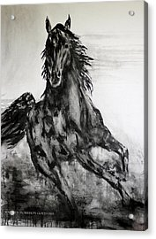 Black Runner Acrylic Print by Jennifer Godshalk