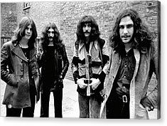 Acrylic Print featuring the photograph Black Sabbath 1970 #4 by Chris Walter