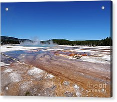 Black Sand Basin In Yellowstone National Park Acrylic Print by Louise Heusinkveld