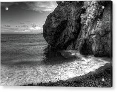 Black Sand Beach Acrylic Print