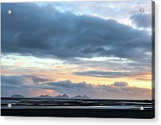 Acrylic Print featuring the photograph Black Sand Sunset Iceland by Brad Scott