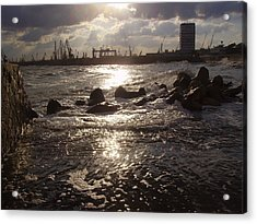 Acrylic Print featuring the photograph Black Sea by Evelina Popilian