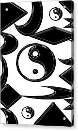 Yin Yang  Abstract Acrylic Print