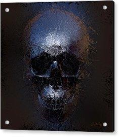 Black Skull Acrylic Print