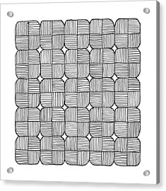 Black Squares Mosaic Acrylic Print by Konstantin Sevostyanov