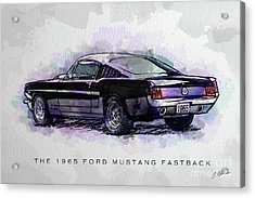 Black Stallion 1965 Ford Mustang Fastback Acrylic Print