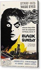 Black Sunday, Barbara Steele, One-sheet Acrylic Print by Everett