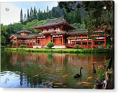 Black Swans At Byodo-in Acrylic Print