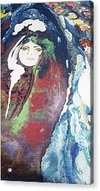 Acrylic Print featuring the painting Black Table by Sima Amid Wewetzer