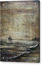 Black Tide Acrylic Print by Judy Merrell