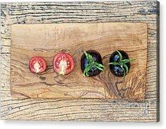 Black Tomatoes Indigo Rose Acrylic Print