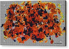 Black Walnut Ink Abstract With Splats Acrylic Print