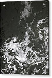 Black Water Marble  Acrylic Print