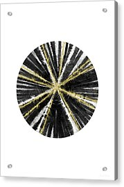 Black, White And Gold Ball- Art By Linda Woods Acrylic Print by Linda Woods