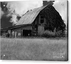 Black White Barn Acrylic Print
