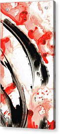 Acrylic Print featuring the painting Black White Red Art - Tango 3 - Sharon Cummings by Sharon Cummings