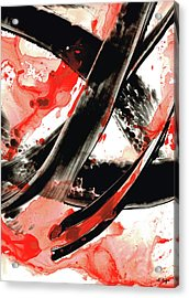 Black White Red Art - Tango - Sharon Cummings Acrylic Print