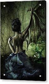 Black Wing Acrylic Print by MrsRedhead Olga