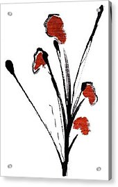 black with a touch of red  A Acrylic Print by Mimo Krouzian