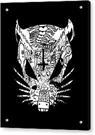 Black Zef Graffiti Rat Acrylic Print by Jera Sky
