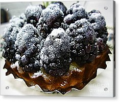 Blackberry Tart Acrylic Print by Renee Trenholm