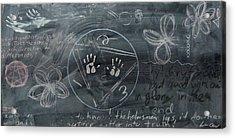 Blackboard Science And Art II Acrylic Print by Stephen Hawks