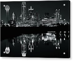 Blackest Night In Big D Acrylic Print by Frozen in Time Fine Art Photography